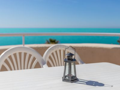 Photo for Amazing apartment with huge terrace, sea views, sun all day long, barbecue, Wi-Fi