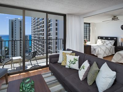 Photo for Luxuary Ocean View Condo! 1 Block from Beach!