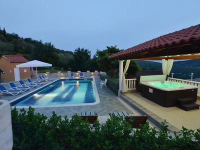 Photo for Beautiful Hillside Estate with spectacular view, large pool & spa near Dubrovnik