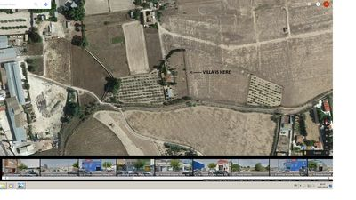 Shows villa in perspective to neighbours, not overlooked at all very private