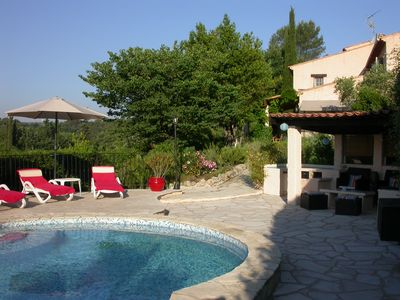 Photo for Ground floor independent 2 or 3 bedroom villa with private pool