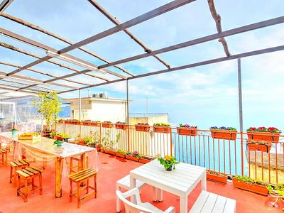 Photo for Casa Sagitta A: A welcoming studio apartment located on the high coast in front of the sea, with Free WI-FI.