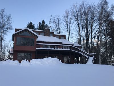 Jay Peak Area 5BR Luxury Family Home Located On Lake Memphremagog