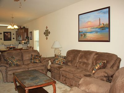 Photo for Golf, Shop, Beach, Repeat - Lake View w/ Private Patio, 1st Floor End Unit