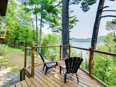 Photo for Lake Heney Quebec, Waterfront Vacation Home with dazzling view