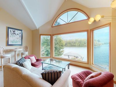 Photo for NEW LISTING! Amazing Views w/ hot tub, children's play area, dock, gym, views