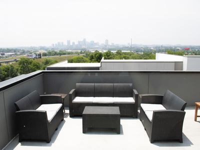 Photo for New Roof Deck w/ Full Skyline Views Minutes to Downtown