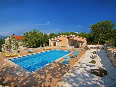 Photo for Romantic private pool villa, 3 minutes from the beach, stunning sea view