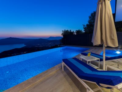Photo for Luxury Two Bedroom Villa with Outdoor and Heated Indoor Pool, Spectacular Views