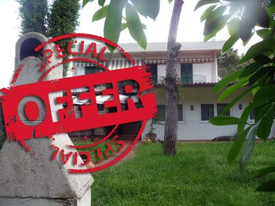 Photo for Apartment with garden in front of the pine forest just a few steps from the sea