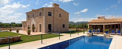 Photo for 4 bedroom Villa, sleeps 8 in s'Horta with Pool, Air Con and WiFi