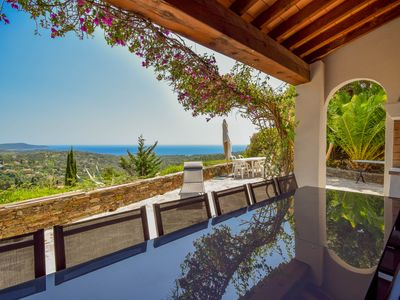 Photo for Superb sea view villa, fully renovated, air conditioned, private pool
