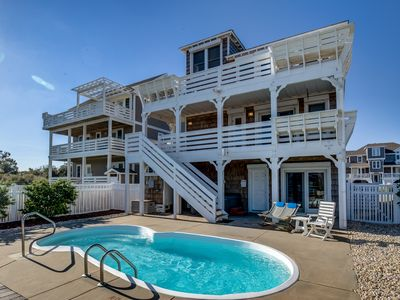 Photo for Island Delight | 900 ft from the beach | Private Pool, Hot Tub
