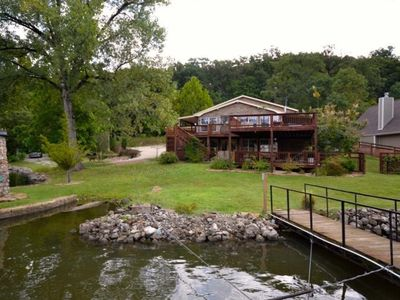 Photo for 5 Bedroom 3.5 Bath Family Lakefront Rental - Quiet Cove! 48MM Boat ramp on site!