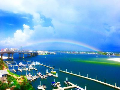 Photo for Beautiful Bayfront condo by Gulf of Mexico! Available August! Book now!!!!