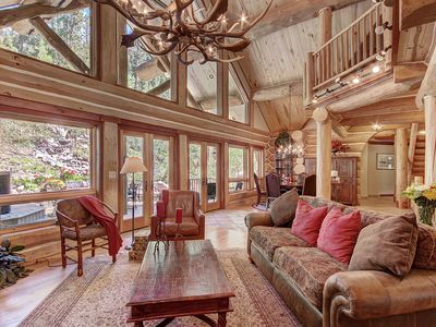 Photo for Custom Built Log Home w/ High End furnishings! Perfect for multiple Families