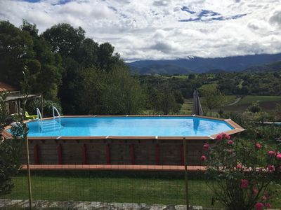 Photo for Detached house of character -Piscine and splendid view at the foot of the Pyrenees