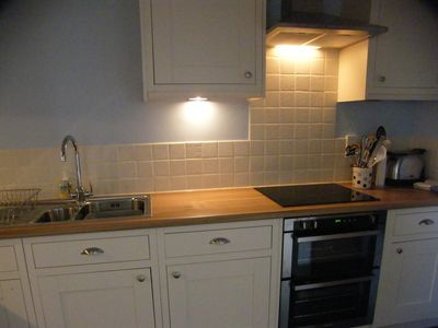 Double oven with grill and hob