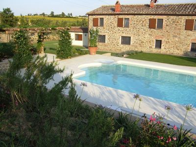Photo for Beautiful Tuscan Country Villa - Pool - Pizza Oven - Gourmet Kitchen - Bocce