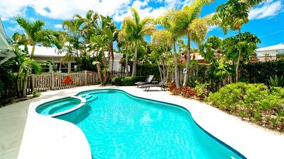Beautiful Pool Home with Private Deck 250 Steps Beach!