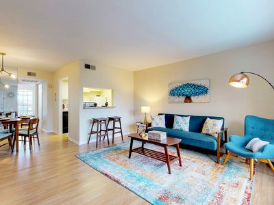 Photo for Cozy condo w/ a shared pool, gas grill, & outdoor spaces - close to downtown!