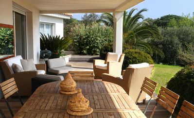 Photo for Standing 8 People Villa with Landscaped Garden 2000m² at 40m from the Beach!