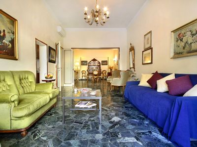 Photo for Spacious Fossombroni apartment in Campo di Marte with WiFi, integrated air conditioning (hot / cold…