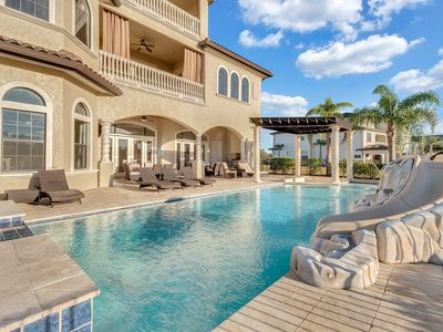 Photo for Be Our Guest Castle | 12 Bed Luxury Villa with Custom Pool and More!
