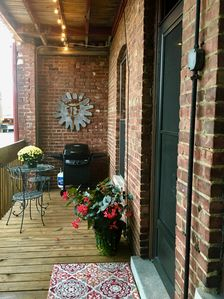 Back Deck with Gas Grill