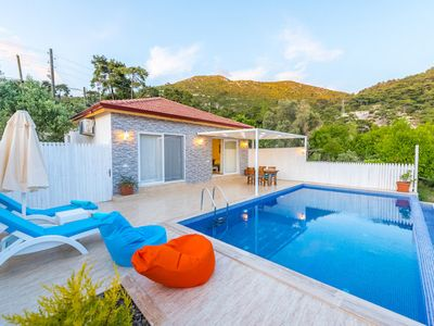 Photo for Private hillside villa with stunning views and luxury furnishings with private pool with sea view vi