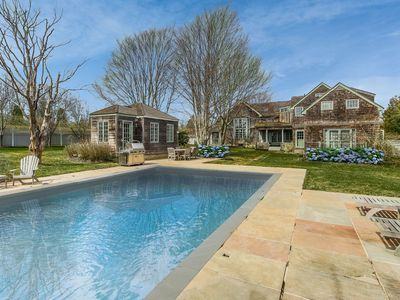 Photo for Sagaponack Sunsets - Pool, Tennis, Privacy, Gardens and Minutes from Beach