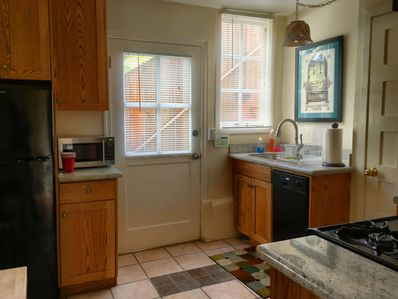 kitchen is fully equipped and has a private entrance