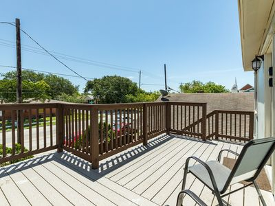 Photo for Dog-friendly upstairs unit w/ large deck, views & enclosed backyard