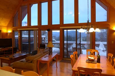View from Kitchen: Main Living/Dining Area