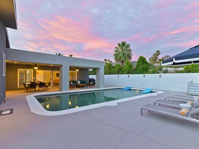 Photo for New Listing! Private Hot Tub & Mountain-View Pool at Modern Home