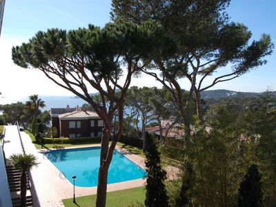 Photo for Ap. 400m beach with sea views in Llafranc. Pool and Tennis.
