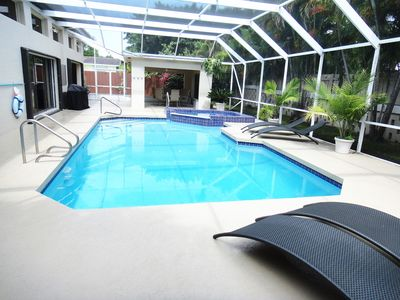 Large Screened In Pool, BBQ & Deck Area's.