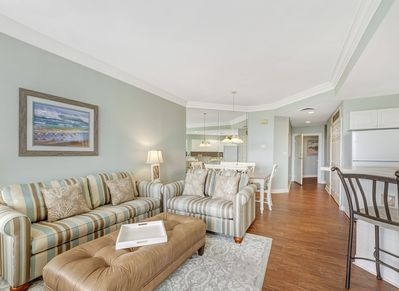 Living Room, Dining Area and Kitchen at 2404 Sea Crest