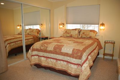 Queen Sized Bed with new Serta Pillow Top Mattress & double closet
