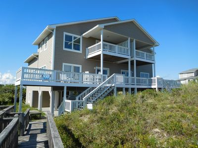 Photo for Bring the whole family!  Large open floor plan oceanfront home~pet friendly, too