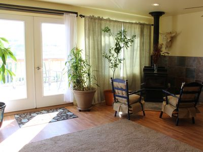 French doors let in lots of light