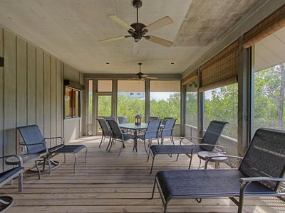 Photo for Breezy Island Getaway Steps from the Beach & Pool - Open Floor Plan