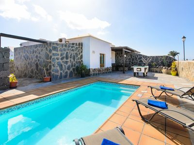 Photo for Tranquil Villa Piedra Close to Beach with Heated Pool, Mountain View, Wi-Fi & Air Conditioning; Parking Available