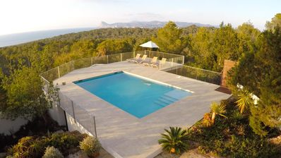 Photo for Villa with private pool, spectacular sea views, quiet location in pine forrest.