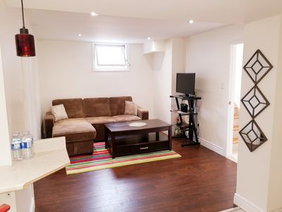 Photo for Stylish 1BR Basement Apt w Parking steps to Subway