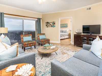 Directly Oceanfront Condo Views of Pier, and Beach
