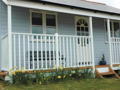 Photo for Self Catering traditional Beach chalet retreat. Sleeps 4. St Ives Bay.