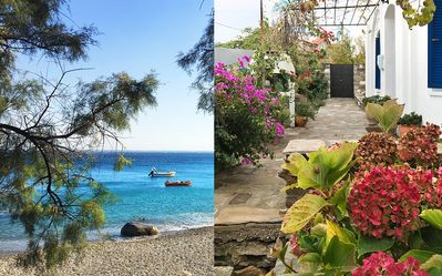 Photo for Old Ikarian stone house by the sea, beautifully restored, with all amenities