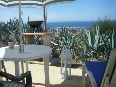 Photo for right on the cliff, fantastic sea view, 3 min to the beach, wifi