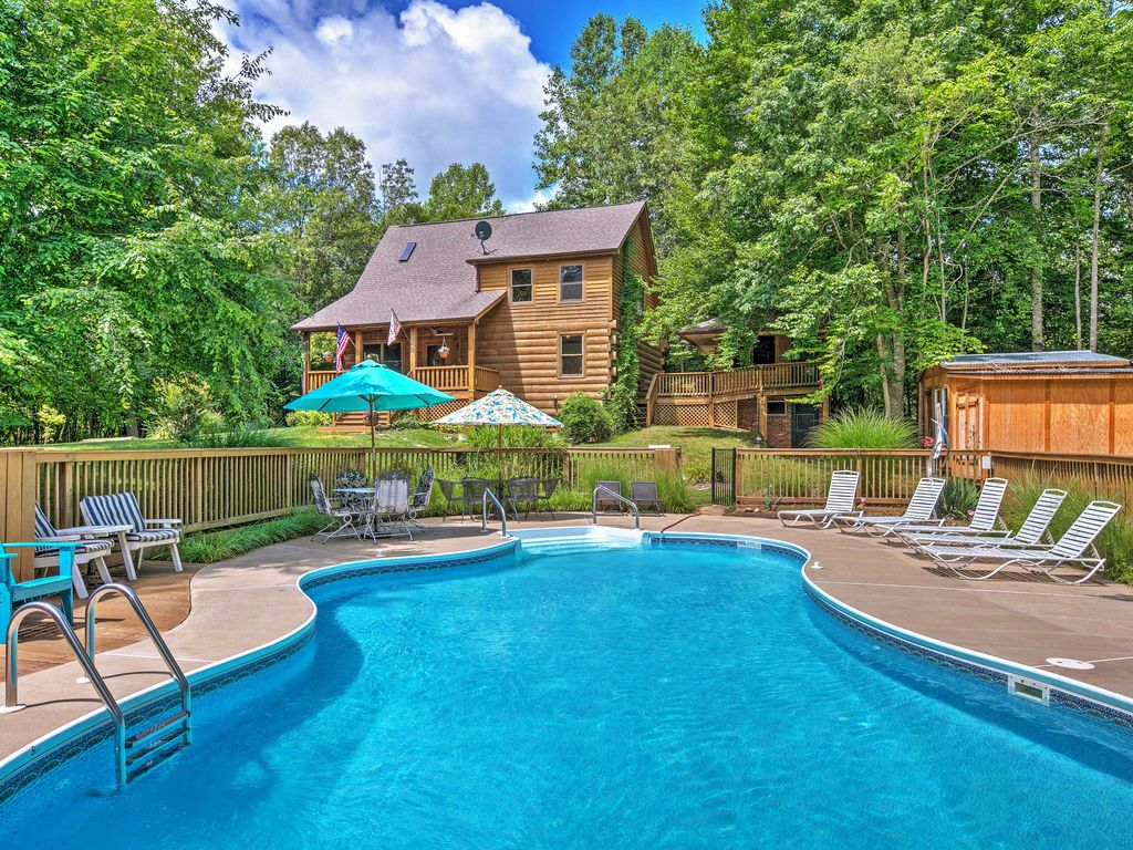 3br lodge sandy hook cabin w saltwater pool sandy Cottages to rent with swimming pools